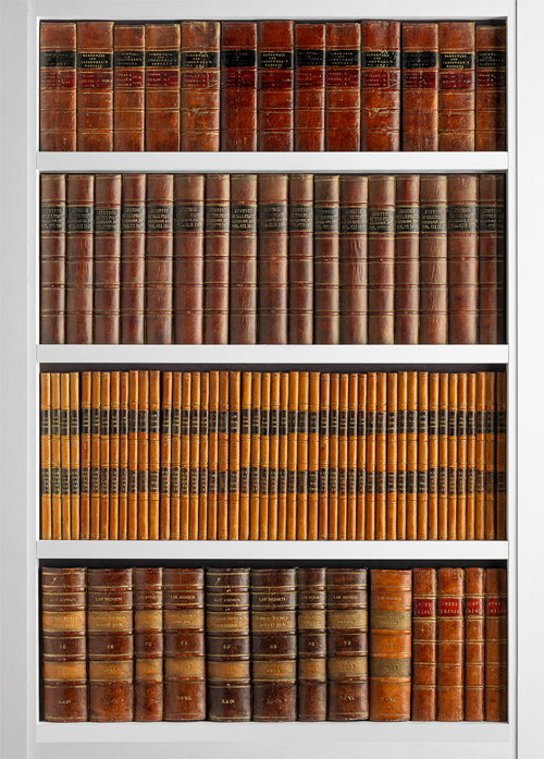 Bookcase Feature Handcrafted Faux Books Decora Mouldings DecBOOKS Tailor-made Book Ends